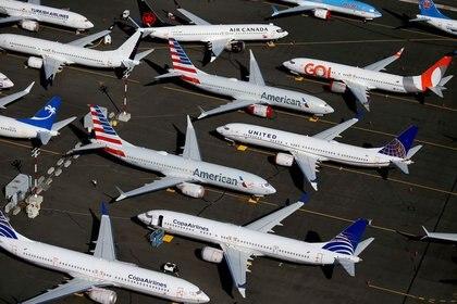 Imagen de archivo de aviones Boeing 737 MAX estacionados en el Boeing Field de Seattle, Washington, EEUU. 1 julio 2019.REUTERS/Lindsey Wasson