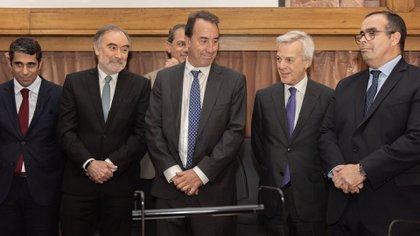 En primer plano, Leopoldo Bruglia, Mariano Llorens, Martín Irurzun y Pablo Bertuzzi, actuales integrantes de la Cámara Federal porteña (foto Adrián Escandar)