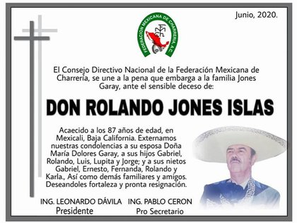 El mensaje de la Federación Mexicana de Charrería