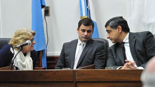 Los jueces del tribunal