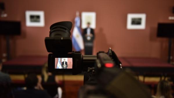 El jefe de Gabinete Marcos Peña brindó una conferencia de prensa (Fotos: Adrián Escándar)