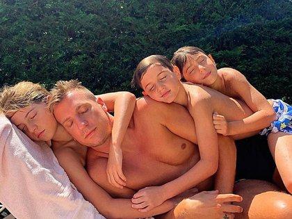 El futbolista y sus hijos disfrutaron del verano francés