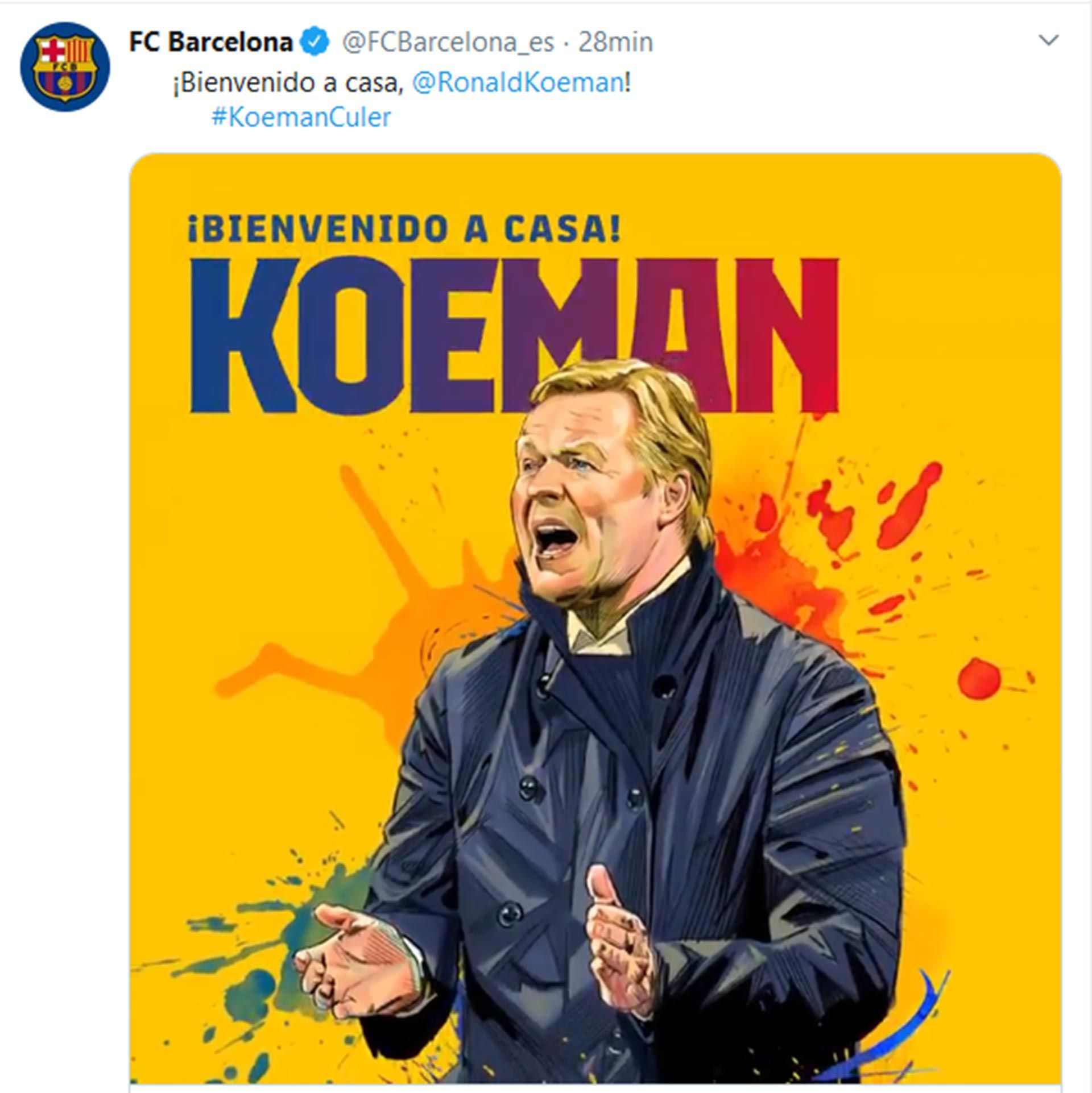 KOEMAN ENTRENADOR BARCELONA
