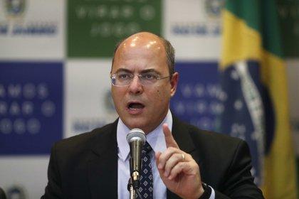 En la imagen, el cesado gobernador del estado de Río de Janeiro, Wilson Witzel. EFE/Marcelo Sayão/Archivo
