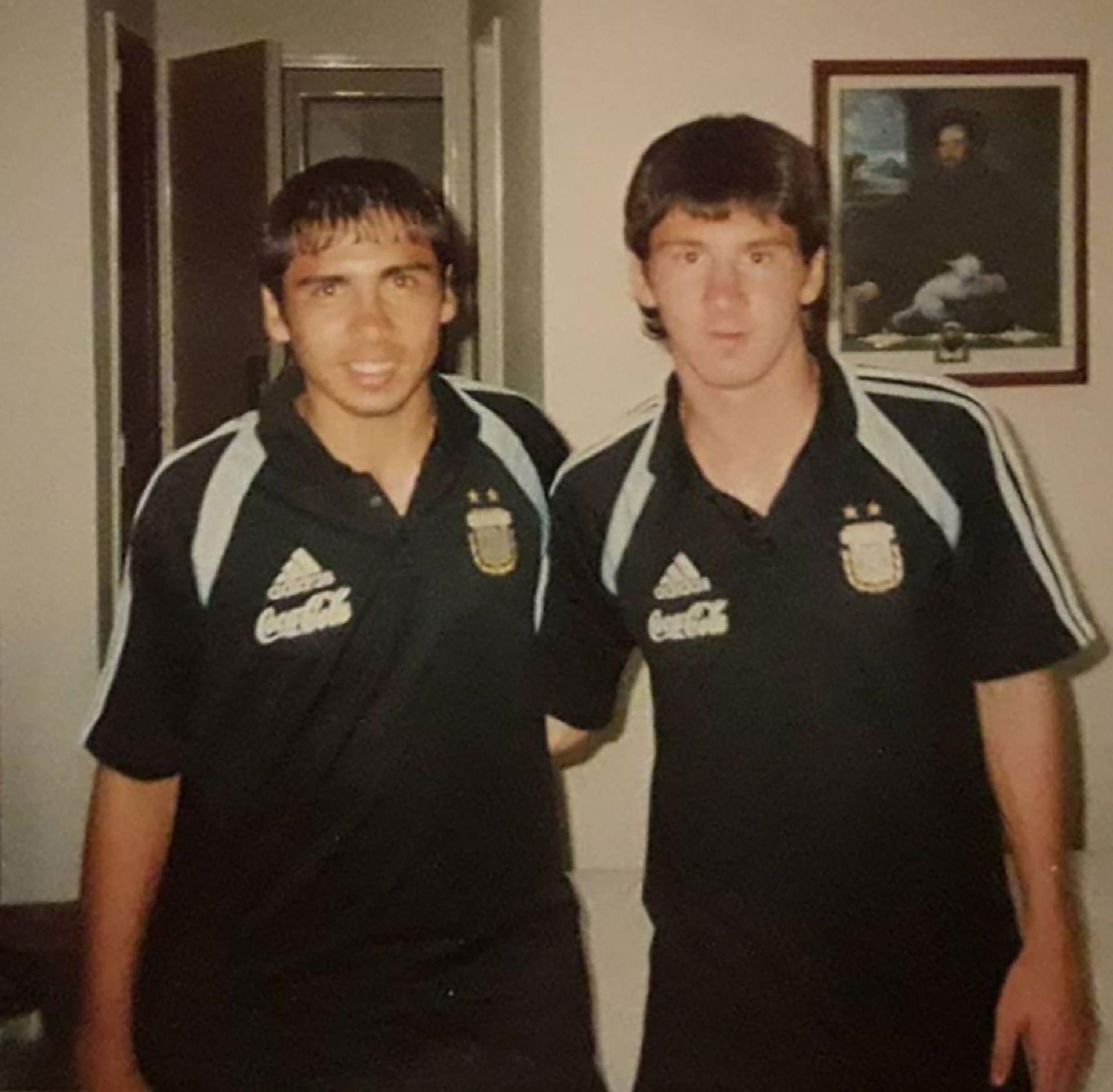 Marcelo Bravo y Lionel Messi Sudamericano 2005