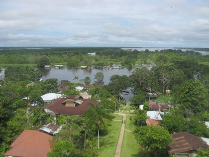 Vista Del Río Amazonas desde Puerto Nariño. Foto: James Richardson.