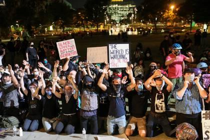 Protestas en Los Ángeles. REUTERS/Patrick T. Fallon