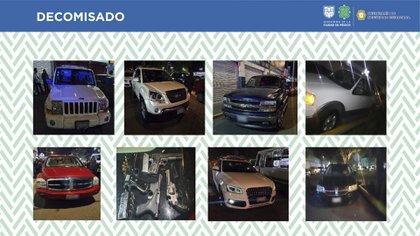 El convoy fue ubicado en Xochimilco, al percatarse de la presencia policial intentaron darse a la fuga (Foto: SSC)