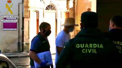 Nacho Vidal ingresando al juzgado de Valencia por el asesinato de un hombre (Guardia Civil)