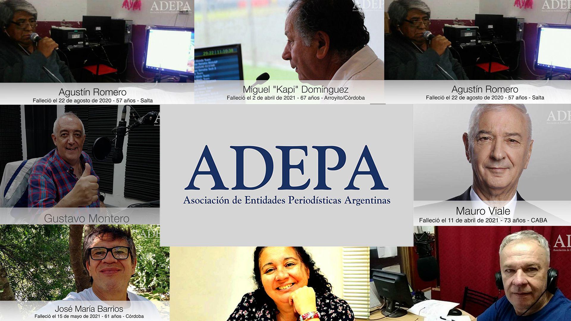 Video homenaje de Adepa a periodistas y trabajadores de prensa fallecidos por Covid-19