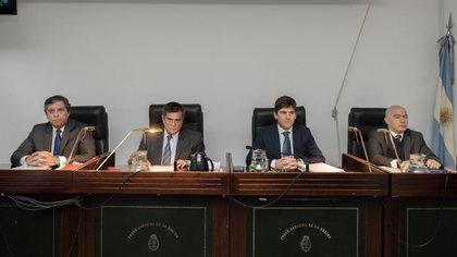 El tribunal oral a cargo del juicio (Adrián Escandar)