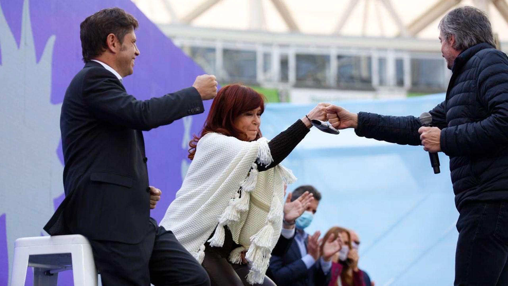 Axel Kicillof - Cristina Fernández de Kirchner - Máximo Kirchner - Alberto Fernández