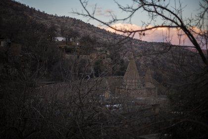 Vista exterior del templo sagrado de Lalish. (Pablo Cobos)
