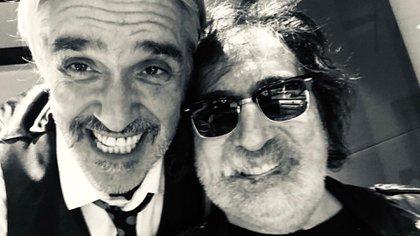 Roberto Pettinato junto a Charly García (Gentileza: Roberto Pettinato)
