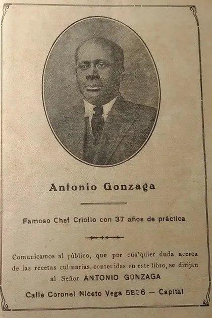 La imagen de Antonio Gonzaga como aparece en su primer libro