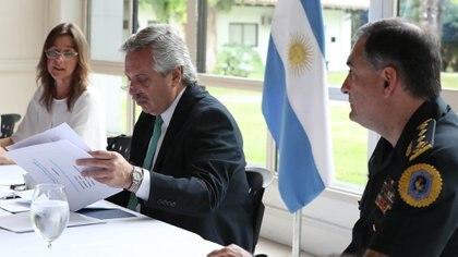 La ministra y el Presidente durante la reunión en Olivos