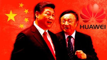 El presidente chino Xi Jinping y Ren Zhengfei, fundador y CEO de Huawei. Ambos conforman una alianza estratégica destinada a instalar a la empresa tecnológica en todo el planeta