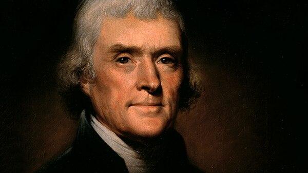 Thomas Jefferson,redactor de la Declaración de Independencia y presidente de los EE.UU.