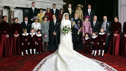 El vestido de Máxima fue diseñado por Valentino (AFP)
