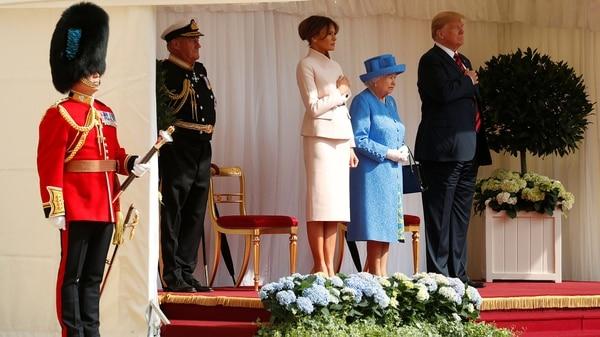 Es la última actividad oficial del matrimonio Trump en Reino Unido (REUTERS/Kevin Lamarque)