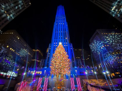 Navidad en el Rockefeller Center. REUTERS/Eduardo Munoz
