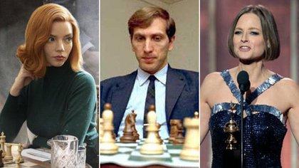 """""""Gambito de dama"""", Bobby Fischer y Jodie Foster"""