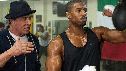 """Michael B. Jordan en """"Creed"""" junto a Sylvester Stallone"""