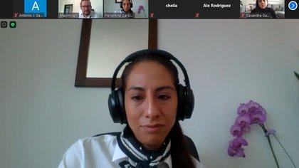 En una videoconferencia, Fiorentina García Miramón dijo que la pandemia ha visibilizado las prácticas abusivas en el comercio online (Foto: Captura de pantalla)