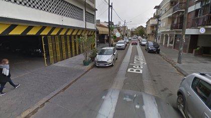 La calle donde ocurrió el crimen de María Rosa Daglio
