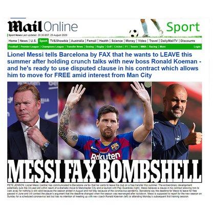 """""""Messi y un fax bomba"""""""
