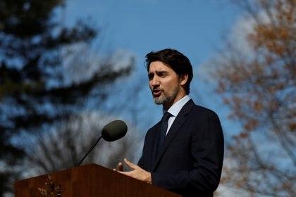 El primer ministro Justin Trudeau se encuentra en aislamiento luego de que su esposa diera positivo a test de coronavirus (REUTERS/Blair Gable)