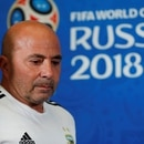 Soccer Football - World Cup - Argentina Press Conference - Kazan Arena, Kazan, Russia - June 29, 2018 Argentina coach Jorge Sampaoli during the press conference REUTERS/John Sibley