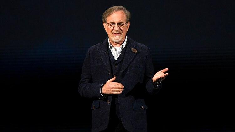 Steven Spielberg también dijo presente en el evento de Apple (AFP)