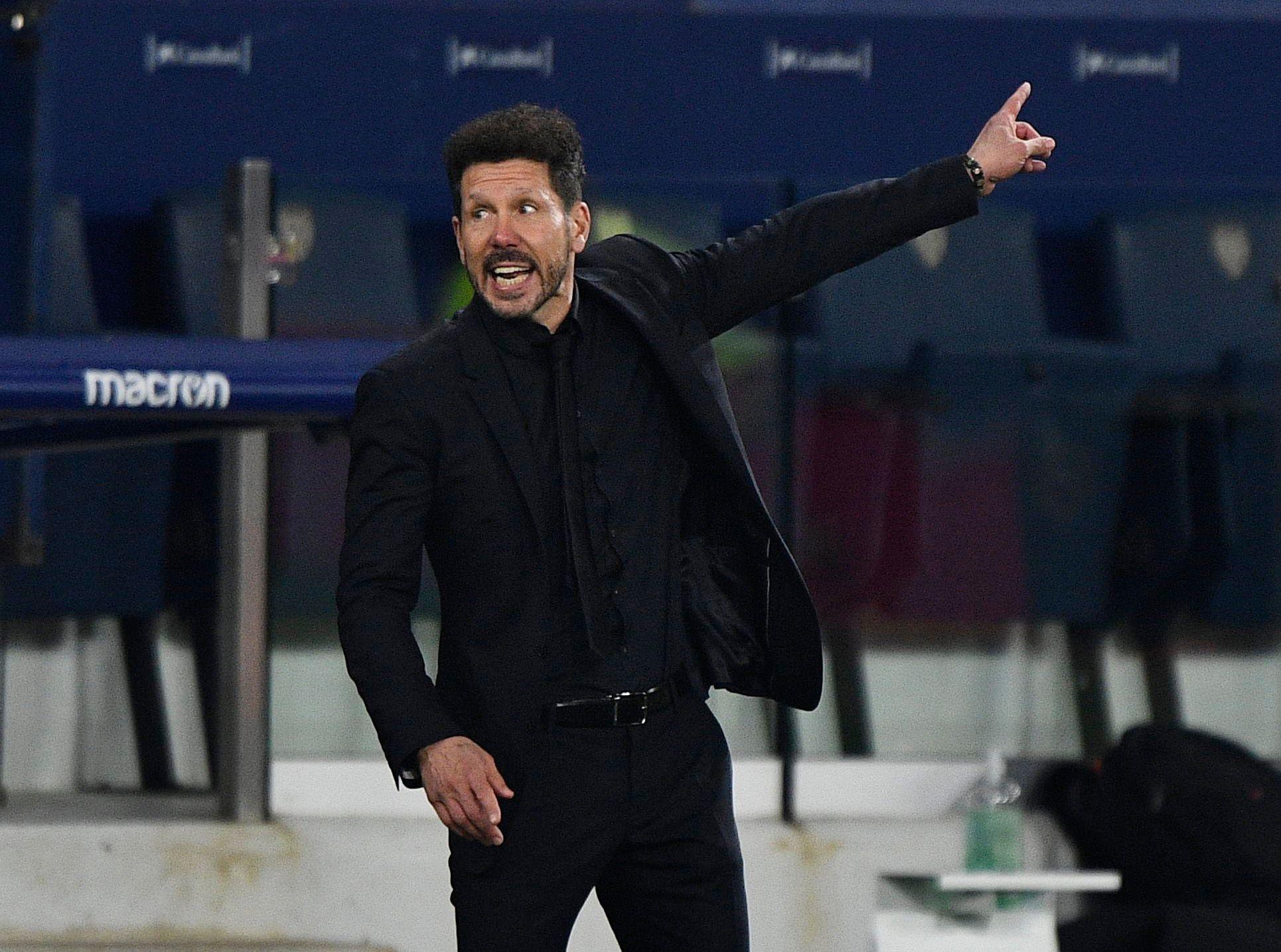 Un ex jugador del Atlético Madrid habló de cómo trabaja Diego Simeone en el equipo (REUTERS/Pablo Morano)