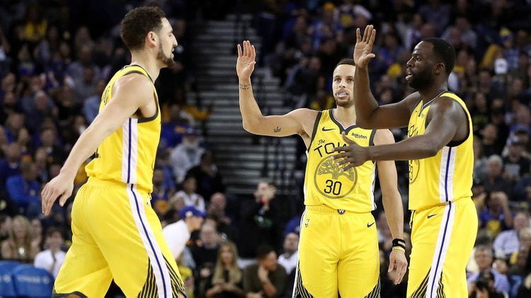 Golden State Warriors se impuso ante los New York Knicks (AFP)