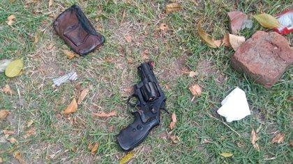 El arma utilizada por Ranzini en el hecho.
