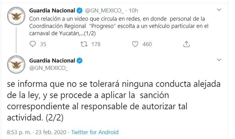 La respuesta de la Guardia Nacional