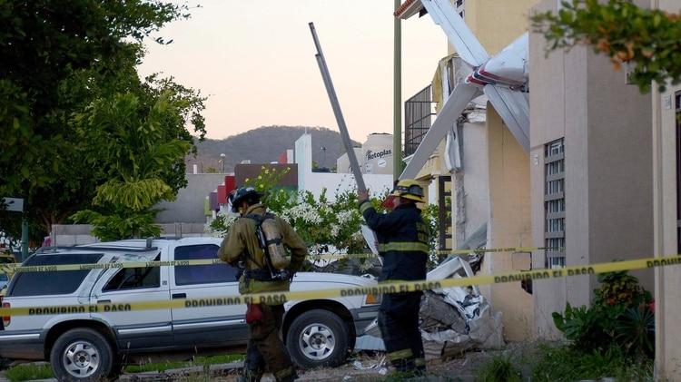 La aeronave se estrelló a los pocos minutos de despegar del aeropuerto de Culiacán (Foto: EFE)