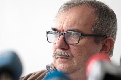 """El jefe del partido FARC, Rodrigo Londoño, alias """"Timochenko"""". EFE/Carlos Durán Araújo/Archivo"""