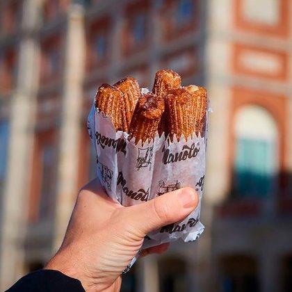 Los churros son la marca registrada del restaurante Manolo