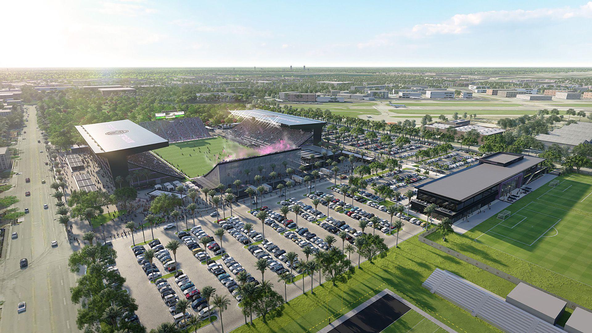Así lucirán las instalaciones del Inter Miami (intermiamicf.com)
