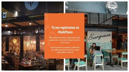 Restaurantes, bares y locales apoyan el movimiento #Safeplaces para que las mujeres se sientan seguras (Foto: Especial)