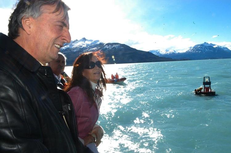 Néstor y Cristina Kirchner en El Calafate