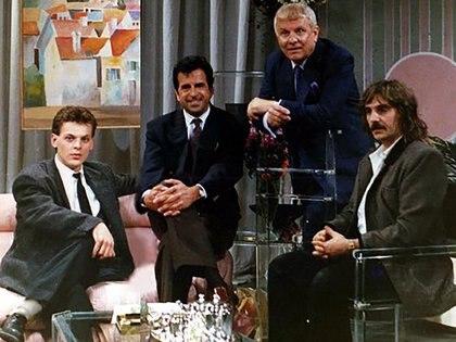 Rubén Orlando (centro) en el programa de Ante Garmaz. En los '90 el peluquero era uno de los más codiciados