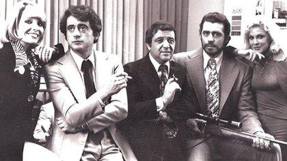 De Grazia junto a Ricardo Bauleo y Víctor Bó