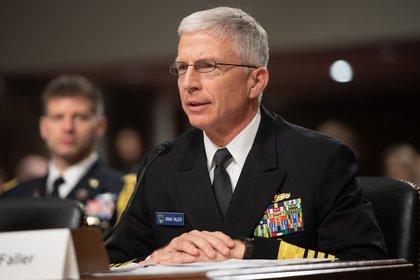 Craig Faller, jefe del Comando Sur de EEUU (Photo by SAUL LOEB / AFP)