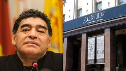 La AFIP recibirá los pagos por los impuestos de la sucesión de Maradona