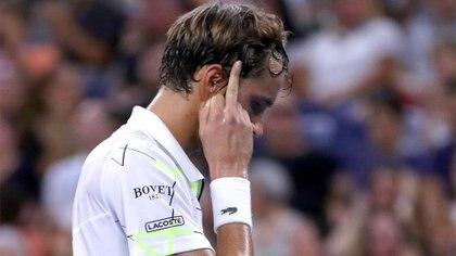 Daniil Medvedev hizo gestos obscenos contra el público en el US Open (AFP)