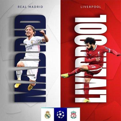 La UEFA promociona el choque entre Real Madrid y Liverpool con las figuras de Luka Modric y Mohamed Salah (UEFA)