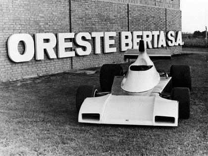 El auto que Oreste Berta quiso hacer correr en el GP de Fórmula 1 de la República Argentina en 1975 (Alejandro de Brito).